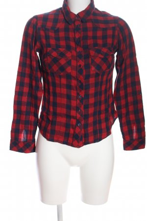 Tally Weijl Flanellhemd rot-blau Karomuster Casual-Look