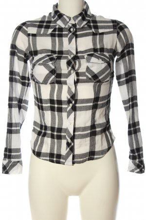 Tally Weijl Flannel Shirt light grey-white allover print casual look