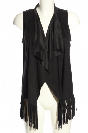 Tally Weijl Fringed Vest black casual look