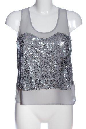 Tally Weijl Glanzende blouse lichtgrijs elegant