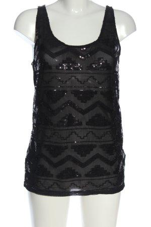 Tally Weijl Blouse topje zwart grafisch patroon elegant
