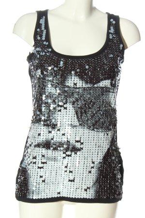 Tally Weijl Basic topje zwart-wit prints met een thema casual uitstraling