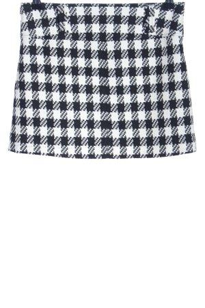 Tally Weijl Flared Skirt black-white check pattern elegant