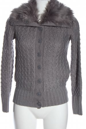 Tally Weijl Coarse Knitted Jacket light grey cable stitch casual look