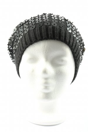 Tally Weijl Knitted Hat black abstract pattern casual look