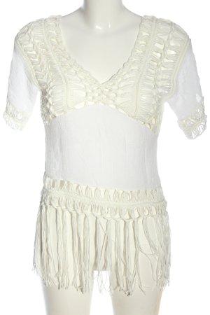 Tally Weijl Top en maille crochet blanc style décontracté