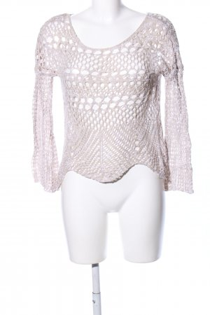 Tally Weijl Crochet Shirt natural white casual look