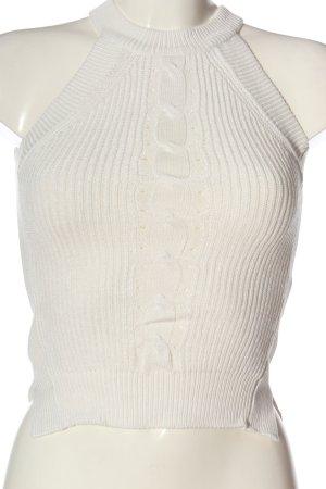 Tally Weijl Haut en crochet blanc torsades style décontracté