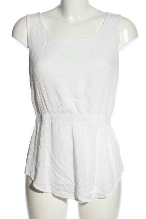 Tally Weijl Haut en crochet blanc style décontracté