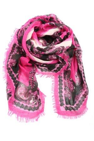 Tally Weijl Halsdoek roze-zwart bloemenprint casual uitstraling