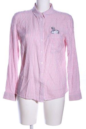 Tally Weijl Hemd-Bluse pink-weiß Streifenmuster Casual-Look