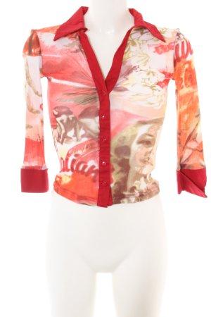 Tally Weijl Hemd-Bluse Motivdruck Casual-Look