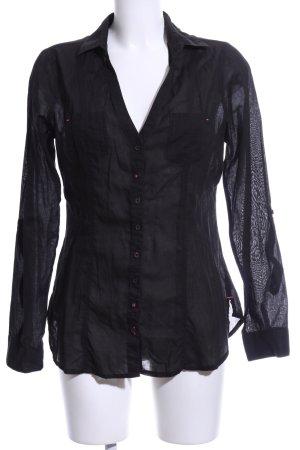Tally Weijl Hemd-Bluse schwarz Elegant