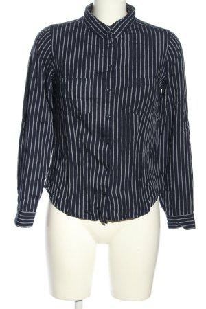 Tally Weijl Hemd-Bluse blau-weiß Streifenmuster Casual-Look