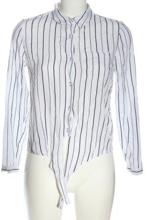 Tally Weijl Hemd-Bluse weiß-schwarz Streifenmuster Business-Look