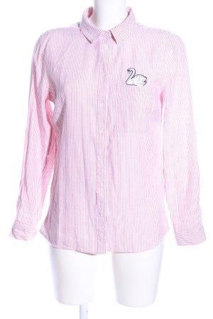 Tally Weijl Hemd-Bluse pink-weiß Streifenmuster Business-Look
