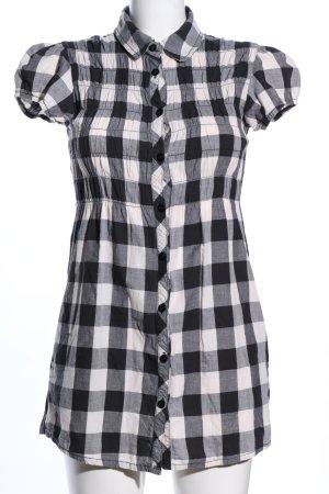 Tally Weijl Hemd-Bluse schwarz-weiß Karomuster Casual-Look