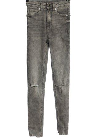 Tally Weijl High Waist Jeans hellgrau Casual-Look
