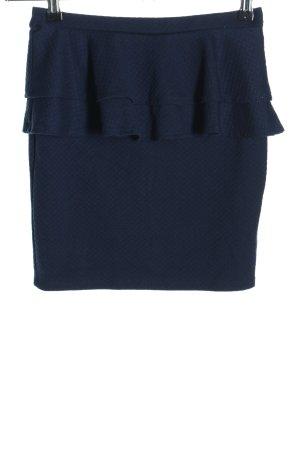 Tally Weijl High Waist Rock blau Business-Look