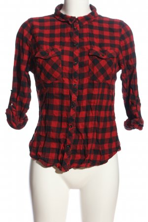 Tally Weijl Holzfällerhemd rot-schwarz Karomuster Casual-Look