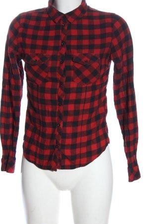 Tally Weijl Koszula w kratę czerwony-czarny Na całej powierzchni
