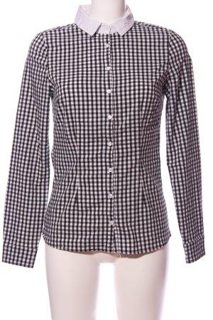 Tally Weijl Langarmhemd schwarz-weiß Allover-Druck Casual-Look