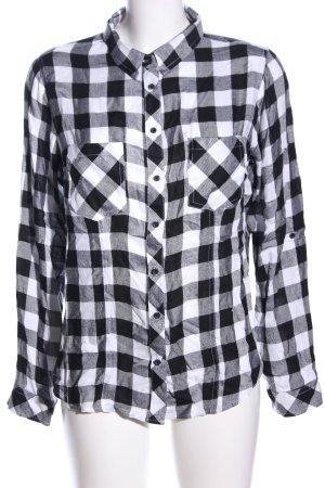 Tally Weijl Holzfällerhemd schwarz-weiß Karomuster Casual-Look