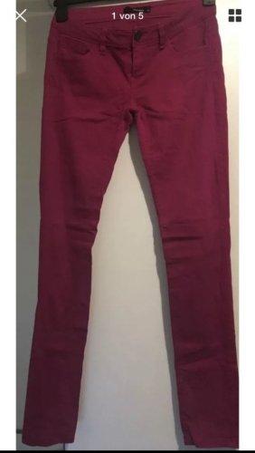 Tally Weijl Hosen Stretchy, Low Waist, Pink Größe 40 Casual Skinny