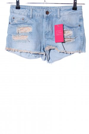 Tally Weijl Hot Pants blau-nude Casual-Look