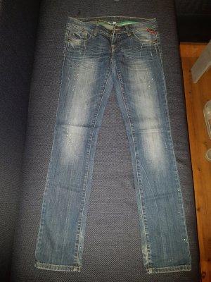 Tally Weijl Jeans vita bassa bianco-grigio ardesia