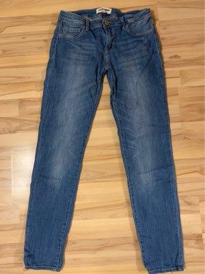 Tally Weijl Pantalon taille basse bleu acier