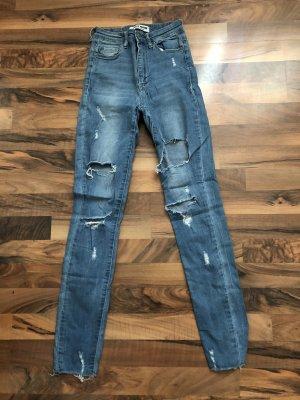 Tally Weijl Jeans a vita alta azzurro-bianco