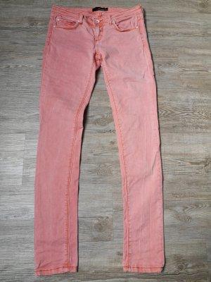 Tally Weijl Jeans Hose 36 38 Koralle Lachs Orange low waist