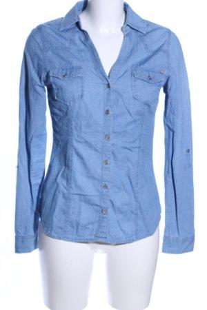 Tally Weijl Jeanshemd blau Casual-Look