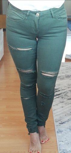 Tally weijl Jeanshose XS zerrissene Jeans khaki 34 skinny jeans mit rissen low waist