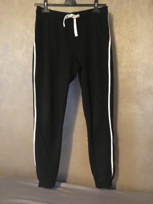 Tally Weijl Pantalón deportivo negro-blanco