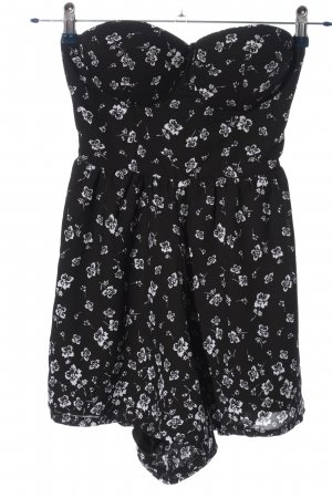 Tally Weijl Jumpsuit schwarz-weiß Blumenmuster Casual-Look