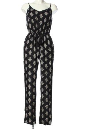 Tally Weijl Jumpsuit schwarz-weiß Allover-Druck Casual-Look