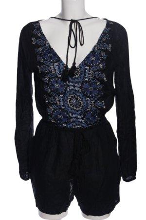 Tally Weijl Jumpsuit black-blue flower pattern casual look