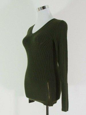 TALLY WEiJL Khaki Grün Schwarz Knit Jumper Tops Pullover Strick Gr. S