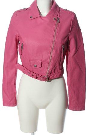 Tally Weijl Kunstlederjacke pink Casual-Look