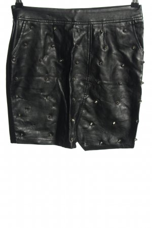 Tally Weijl Faux Leather Skirt black casual look