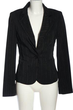 Tally Weijl Kurz-Blazer schwarz-wollweiß Streifenmuster Elegant