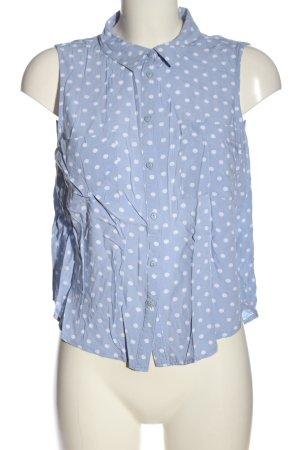 Tally Weijl Camisa de manga corta azul-blanco look casual