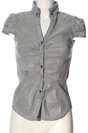 Tally Weijl Shirt met korte mouwen zwart-zilver gestreept patroon