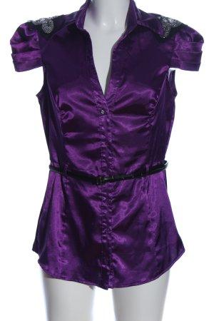 Tally Weijl Camisa de manga corta lila elegante