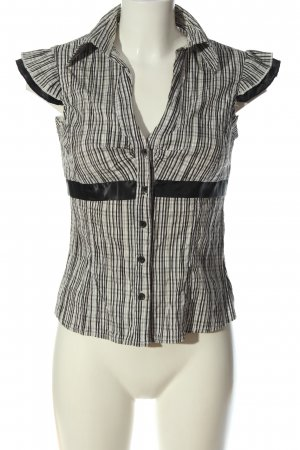 Tally Weijl Short Sleeve Shirt black-natural white check pattern casual look