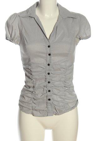 Tally Weijl Chemise à manches courtes gris clair-blanc motif rayé