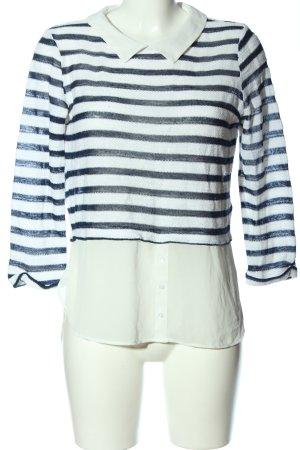 Tally Weijl Langarm-Bluse weiß-schwarz Streifenmuster Casual-Look
