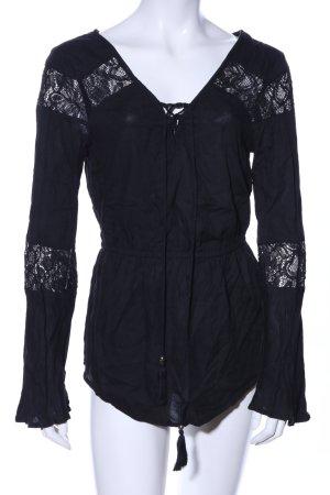Tally Weijl Langarm-Bluse schwarz Casual-Look
